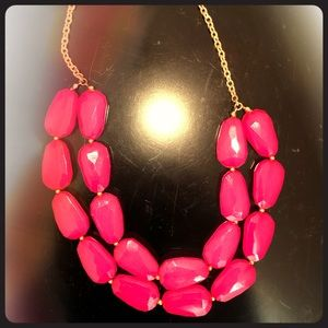 Pink necklace—- Adjustbable